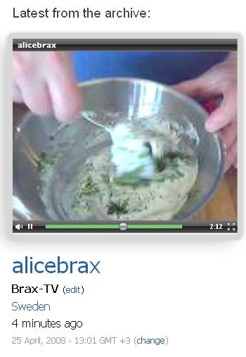 Bambuser livesändning av Brax-TV