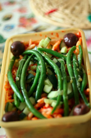 Matlåda med pasta och bönor