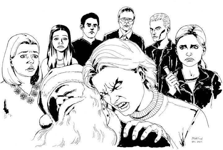 Buffy tecknad av Martin Rebas