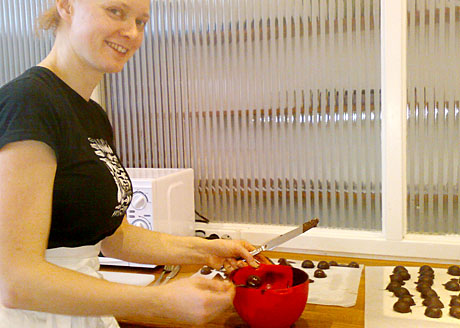 Mia Öhrns chokladkurs Foto: Alice Brax