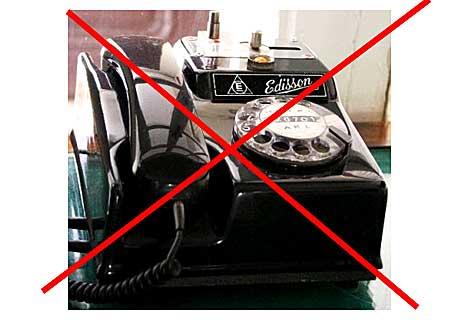 Inga mer gamla telefoner Foto: Alice Brax